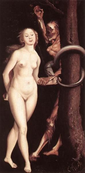 Hans Baldung Grien Eve the Serpent and Death